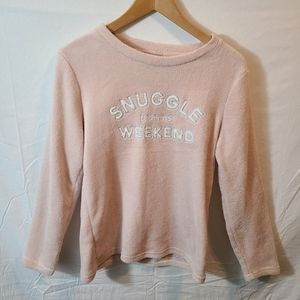 Love To Lounge Logo Snuggle Up This Weekend Top